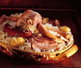plat de choucroute alsacienne